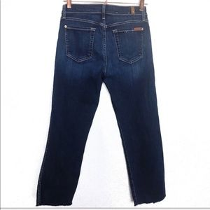 7 For All Mankind Jeans - 7 For All Mankind B(air) Raw Hem Cropped Jeans
